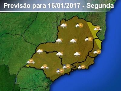 Sudeste terá pancadas de chuva forte e isoladas