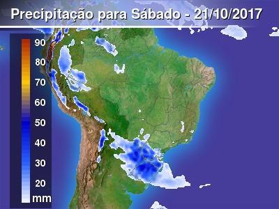 Temporais em parte do Sul do Brasil