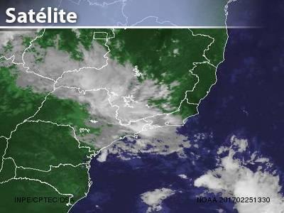 Mudança de tempo em parte do Sudeste
