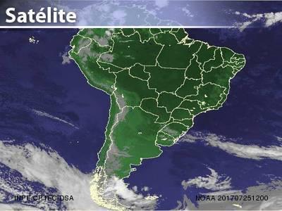 Tempo seco em grande parte do Brasil