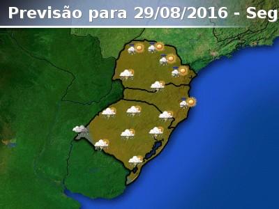 Previs�o de chuva para toda a regi�o Sul do Brasil nest...