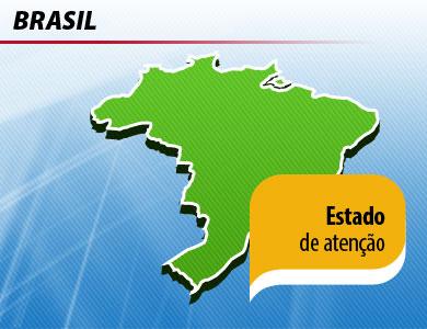 Chuva forte em parte do Brasil